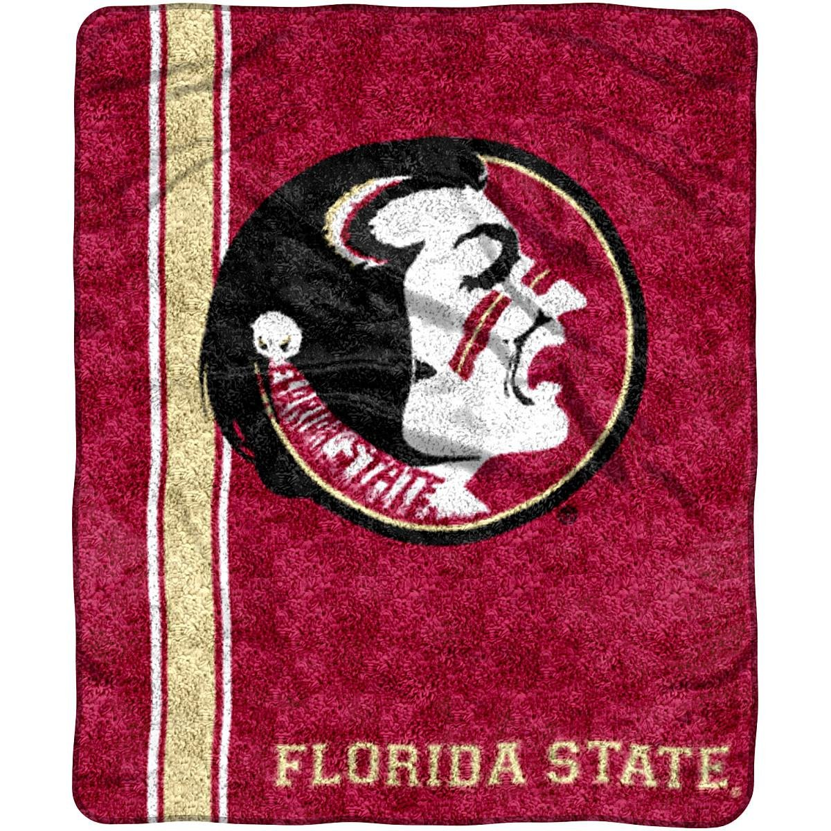NCAA Florida State Seminoles ''Jersey'' Sherpa Throw Blanket, 50'' x 60''