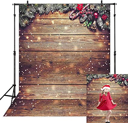 Avezano Schneeflocke Gold Glitter Weihnachten Holz Wand Kamera