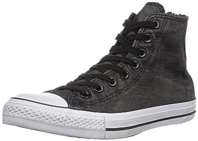 eb97f9e451de Converse Unisex Adults  Chuck Taylor Back Zip Hi Boots Black Size  6 ...