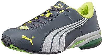 Puma Men s Jago Ripstop DP Dark Shadow-White-Lime Punch Running Shoes - 11 fa5fff19eb