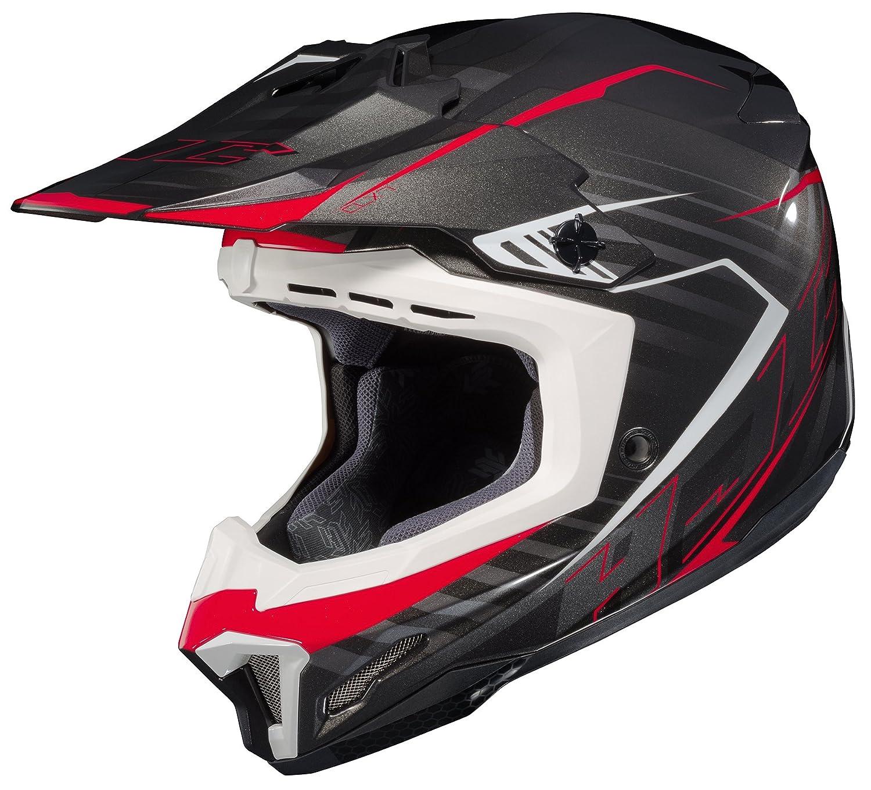 752-912 HJC Helmets Unisex-Adult Off-Road Helmet CL-X7 Blaze MC-1 Black//Red, Small