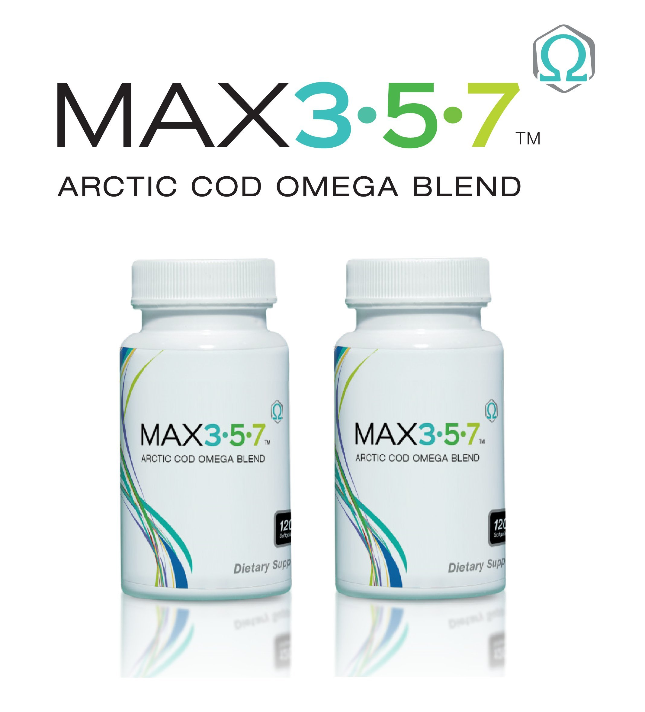 Max 3-5-7, Artic Cod Omega Blend, 120 Softgels, 30 Servings (2 Pack)