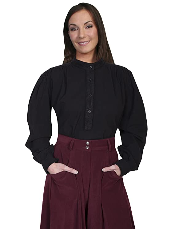 Steampunk Tops | Blouses, Shirts Scully Rangewear Womens Rangewear Frontier Long Sleeve Top - Rw534ivo $54.00 AT vintagedancer.com