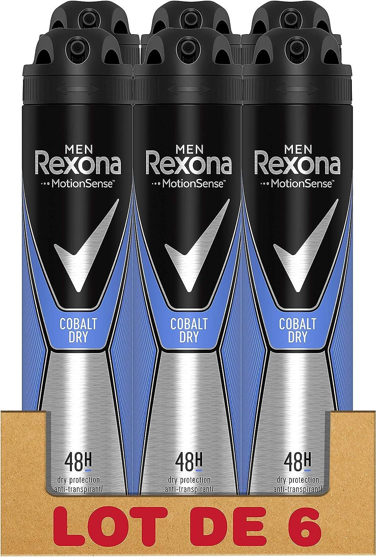 Rexona Desodorante Antitranspirante Cobalt, 200 ml, Paquete de 6