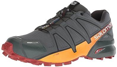 29b4056f51422 Salomon Men s Speedcross 4 CS Trail Running Shoe Urban Chic red  Ochre Tangelo 7