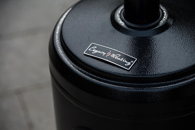 Hammered LEGACY HEATING 47000 Btu Propane Patio Heater Black