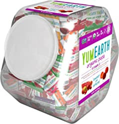 YumEarth Organic Vitamin C Lollipops, 30 Ounce Container