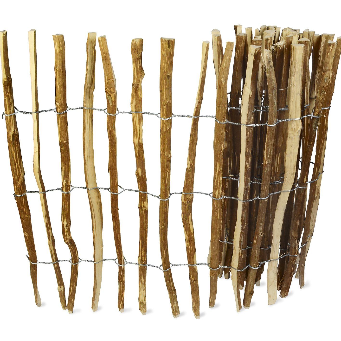 Qualit/ätsarbeit Lattenabstand 8cm Handw 90cm x 460cm Staketenzaun aus Kastanienholz