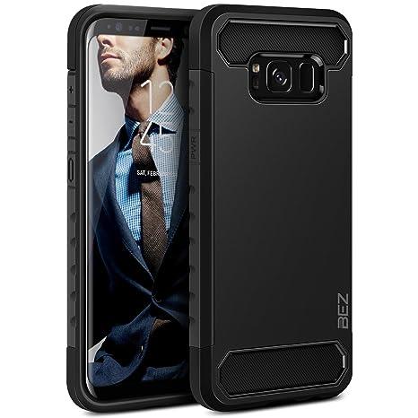BEZ Funda Samsung Galaxy S8, Carcasa Compatible para Samsung S8, Ultra Híbrida Gota Protección, Cover Anti-Arañazos con Absorción de Choque ...