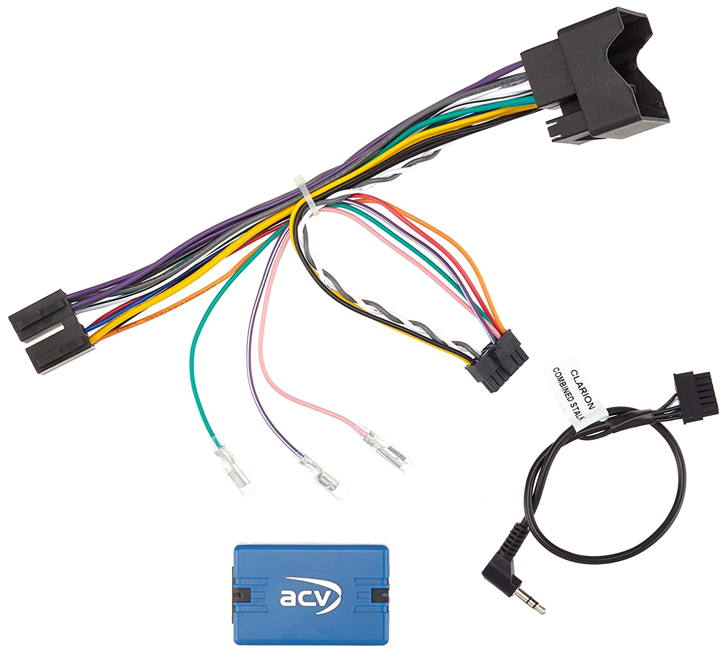2nd Gen 2007/to CLARION, ACV 42/ /CT 9/803//Steering Wheel Remote Control Adaptor LFB Fiat Scudo
