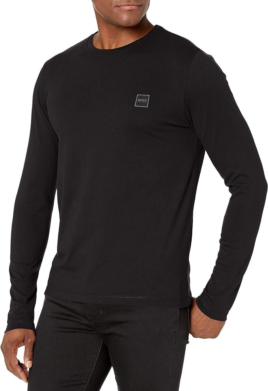 Hugo Boss Mens Basic Long Sleeve T-Shirt with Logo
