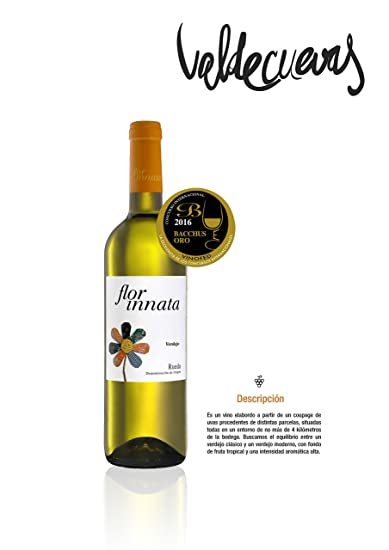 Flor Innata Caja de 3, Vino Blanco Verdejo Rueda Valdecuevas, x3, 750 ml, Coupage Verdejo y Sauvignon Blanc: Amazon.es: Alimentación y bebidas