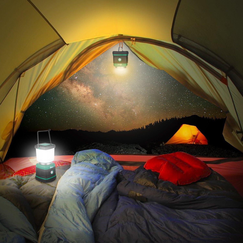 Odoland Ultra Bright 1000 Lumen Camping Lantern with Brightness Adjustment, Battery Powered LED Lantern of 4 Light Modes, Best for Camping, Hiking, Fishing & Emergency by Odoland (Image #8)