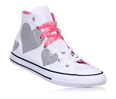 Converse Scarpe Sneakers Chuck Taylor Ragazze Bianco 660971C-WHITE HOT PINK 7ef84c94fde46