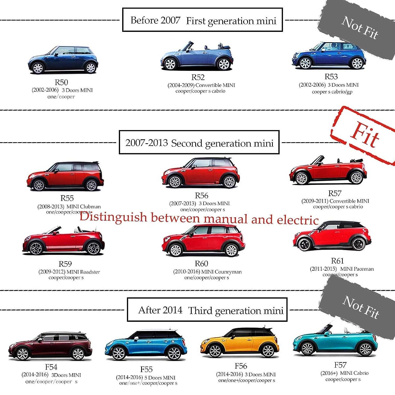 car parts 2000-2006 coques de r/étroviseurs ext/érieurs union jack rouges et bleues pour mini cooper R50 R52 R53