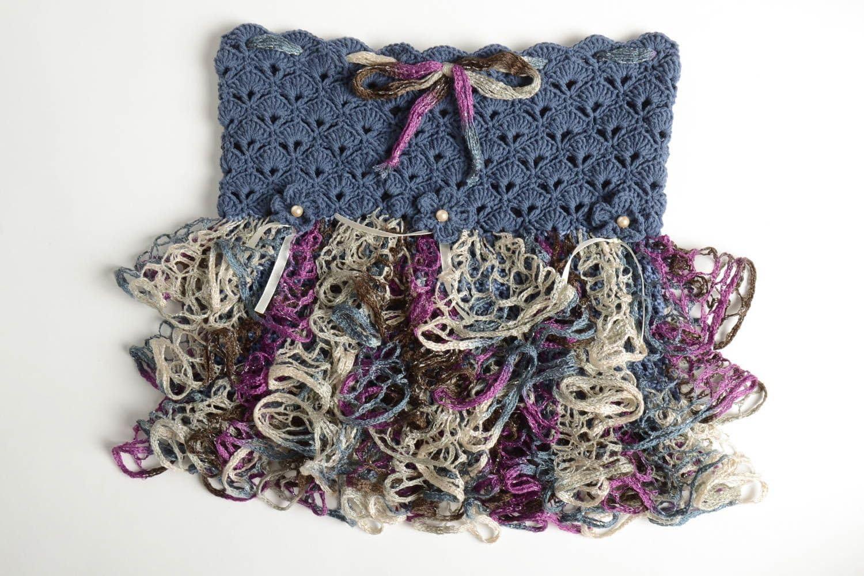 Falda tejida a gancho artesanal y moderna ropa de nina elegante ...