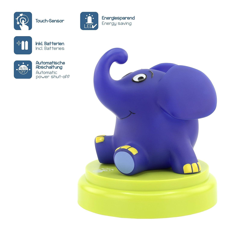 ANSMANN LED Nachtlicht Elefant - Süße Einschlafhilfe mit Sensor ...