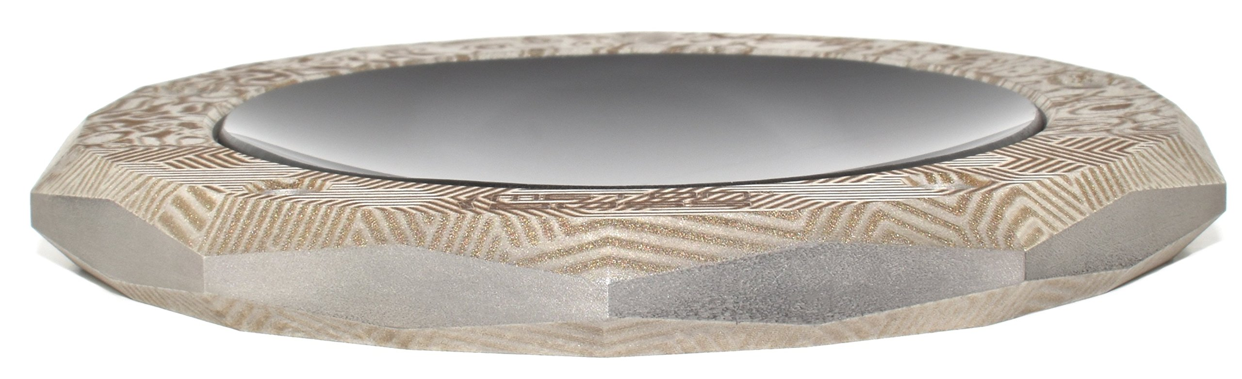 MetonBoss MOKUME Summer All-in-One S. Steel Spinning Top Base and Dock - Precision Designed Durable Gift - Made with Stainless Steel (Custom Lasered Etched) by MetonBoss (Image #3)