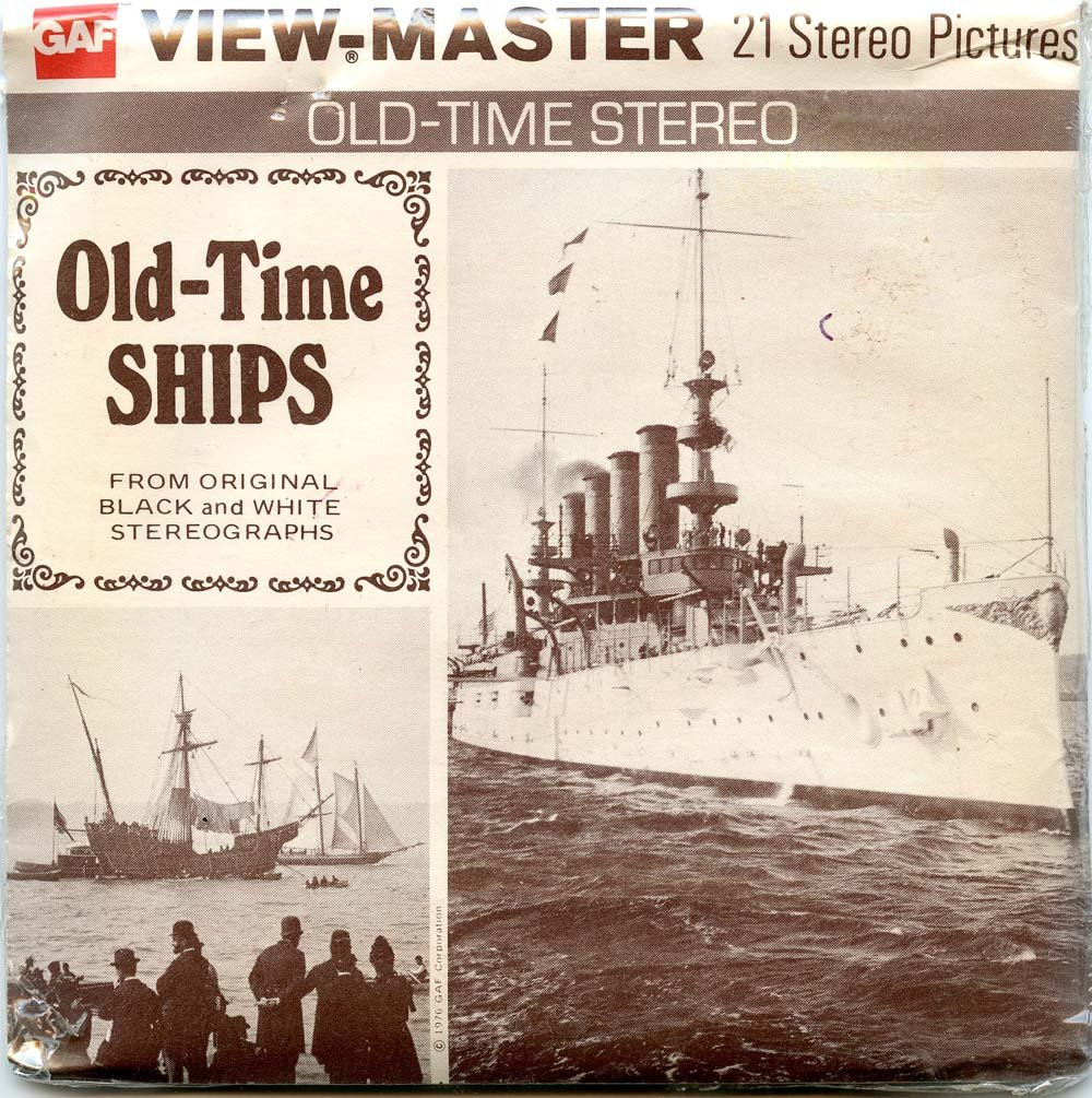 Classic ViewMaster - Old-Time Ships from Original Black and White Stereographs - ViewMaster Reels 3D - Unsold store stock - never opened