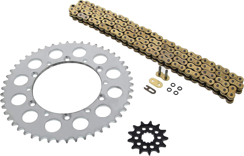 Kawasaki 08-14 KLX450 R 06-14 KX450 F Gold O Ring Chain /& Sprocket 13//50 114L