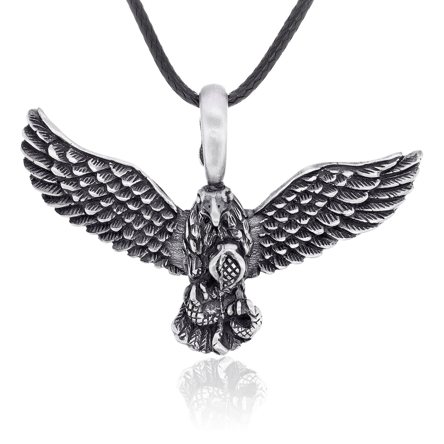eagle pendant accent overstock diamond over today free silver palmbeach men mens product watches shipping s jewelry gold