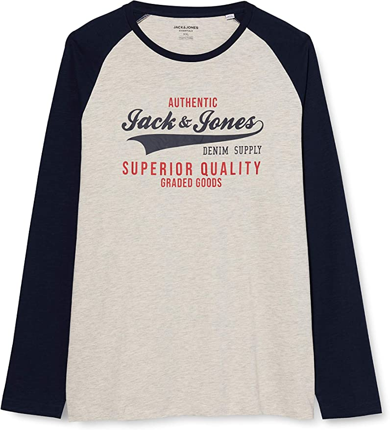 Jack /& Jones Joruptown tee LS Crew Neck Camiseta de Manga Larga para Hombre