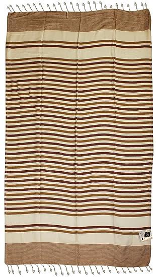Toalla Playa Maxi Pareo cm 100 x 210 Formentera algodón Tinto Hilo con flecos ROSSO/SENAPE: Amazon.es: Hogar