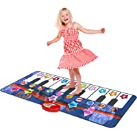 Kidzlane Durable Piano Mat, 10 Selectable Sounds, Play and Record, for Kids 2 to 5, Dance and Learn
