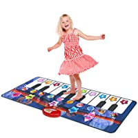 Kidzlane Durable Piano Mat, 10 Selectable Sounds, Play and Record, for Kids 2 to...