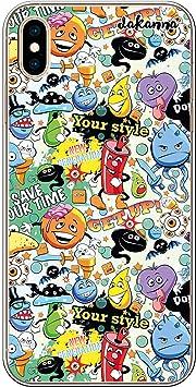 dakanna Funda para [iPhone XS MAX] de Silicona Flexible, Dibujo Diseño [Graffiti con Elementos y Personajes anormales], Color [Borde Transparente] Carcasa Case Cover de Gel TPU para Smartphone: Amazon.es: Electrónica