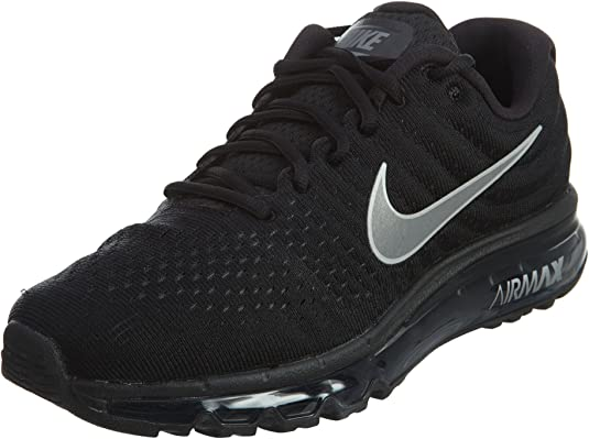 realce ajustar Depresión  Amazon.com | Nike Men's Air Max 2017 Running Shoes (7.5 (M) US,  Black/White/Anthracite) | Road Running