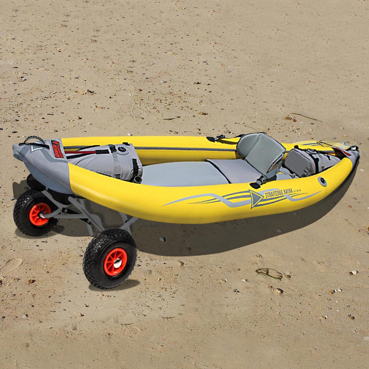 ShOpPeRcHoIcE Aluminum Kayak Jon Boat Canoe Gear Dolly Cart Trailer Carrier Trolley Wheels