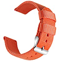 OLLREAR Canvas Watch Strap Replacement Woven Fabric Watch Band -13 Colors & 4 Sizes - 18mm, 20mm, 22mm, 24mm