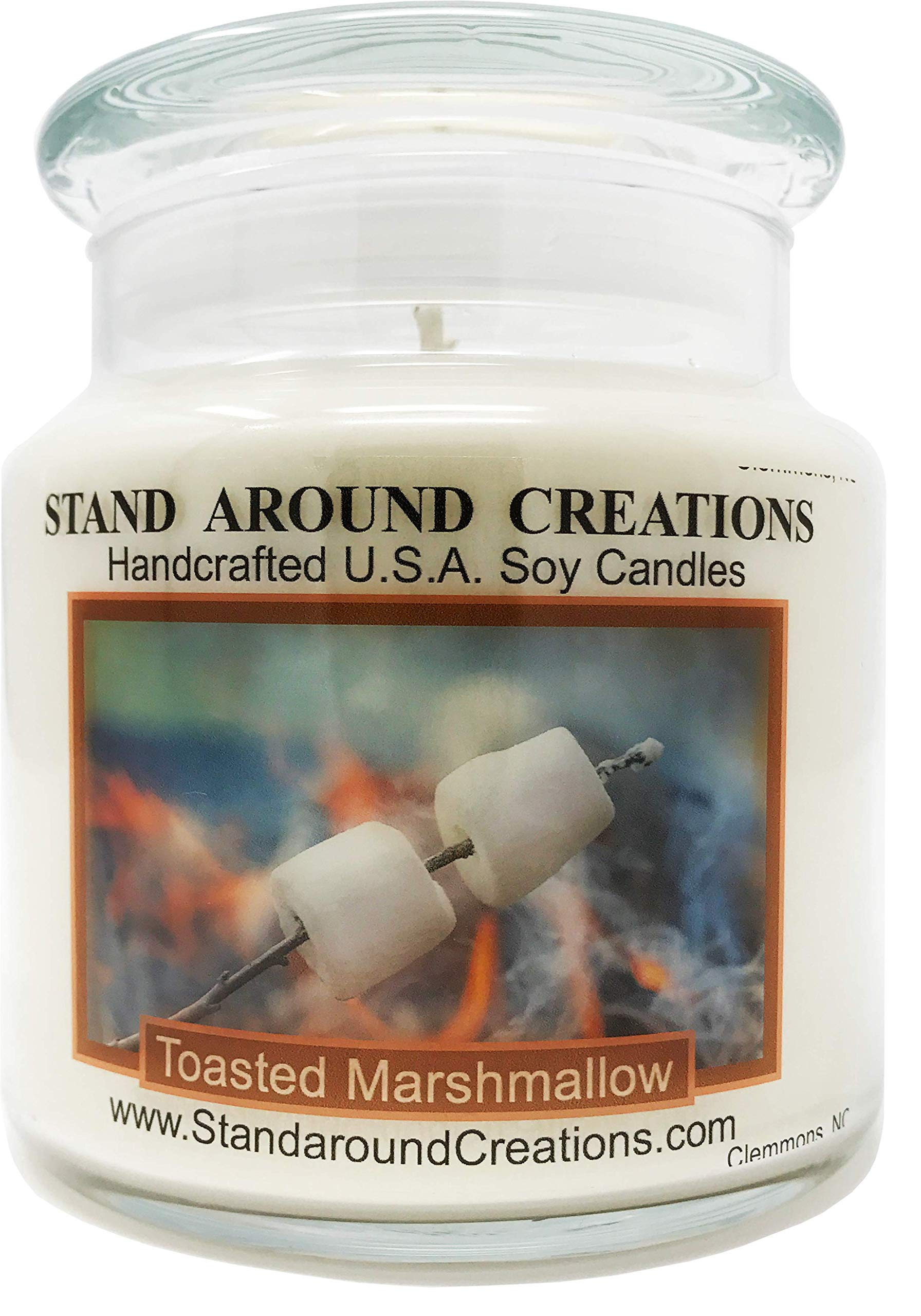 Premium 100% Soy Apothecary Candle - 16 oz. - Toasted Marshmallow - True to its name! Imagine a marshmallow on a stick, just slightly toasted by the fire.
