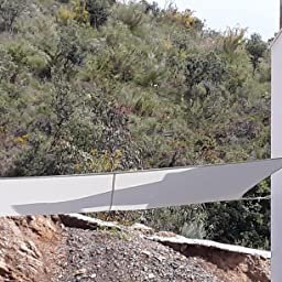 Lumaland toldo Vela de Sombra 100% Polietileno de Alta Densidad ...