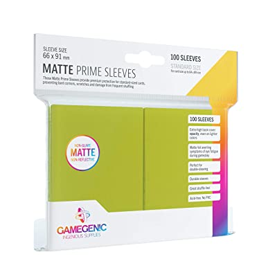 Sleeves: Gamegenic Matte Prime Sleeves: Lime (100): Toys & Games