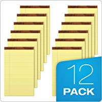 12-Pack TOPS The Legal Rule Pad Canary Paper (50 Sheets / Pack)