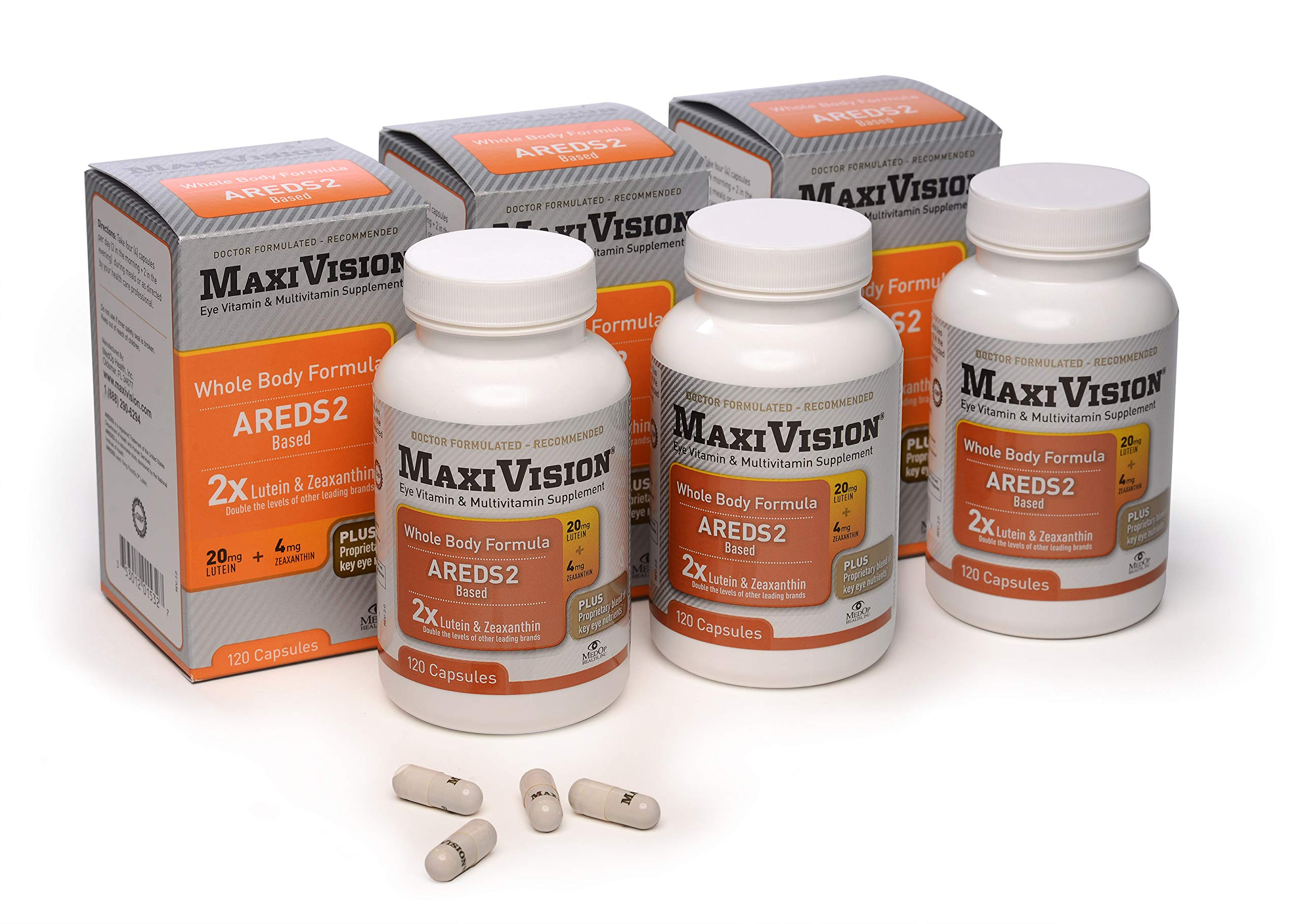 MedOp MaxiVision® Whole Body Formula - 120 Capsules, 3 Bottles