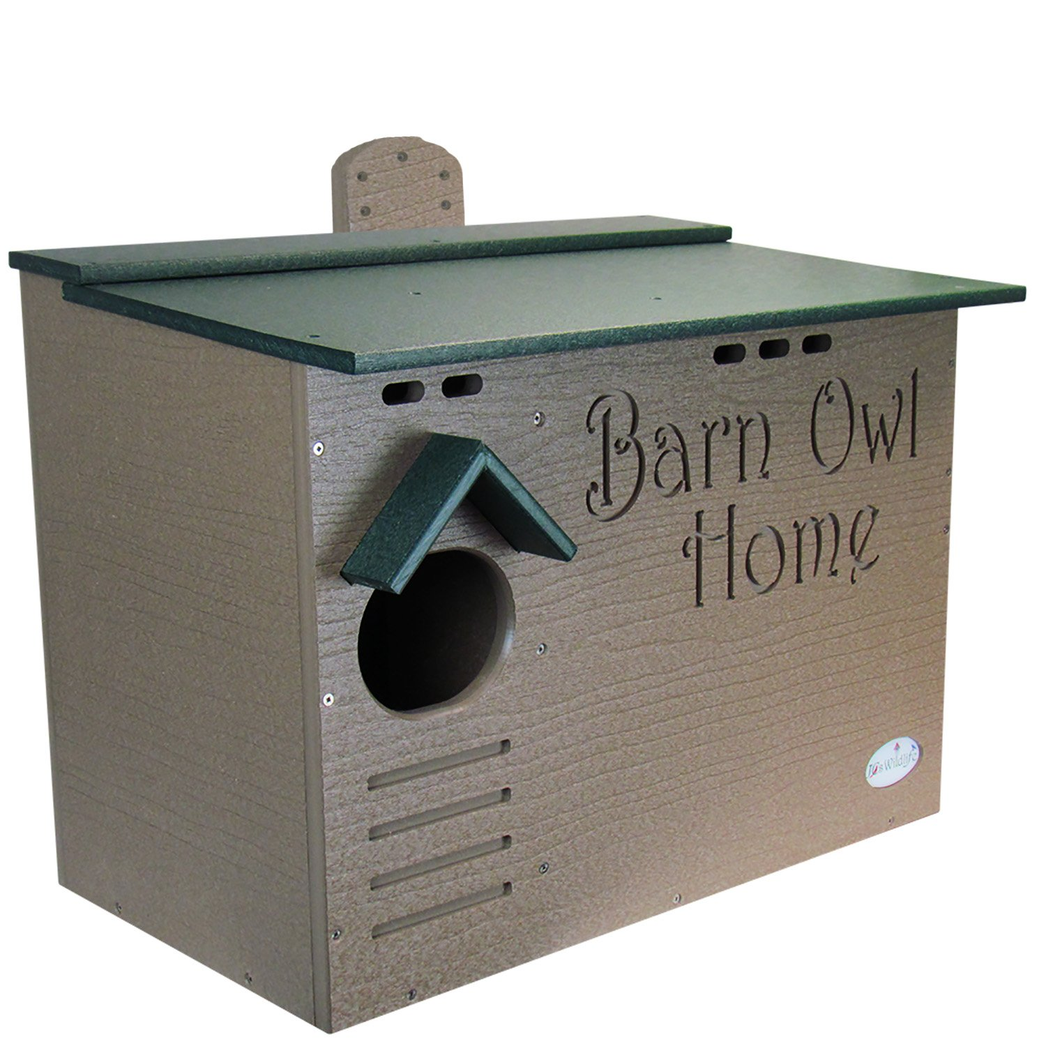 JCs Wildlife Barn Owl Nesting House, Large home made w/ Recycled Poly Lumber by JCs Wildlife