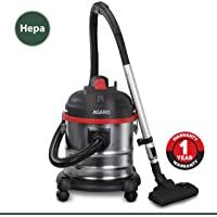 AGARO Ace 1600-Watt, 21-Litre Wet & Dry Stainless Steel Vacuum Cleaner, with Blower Function