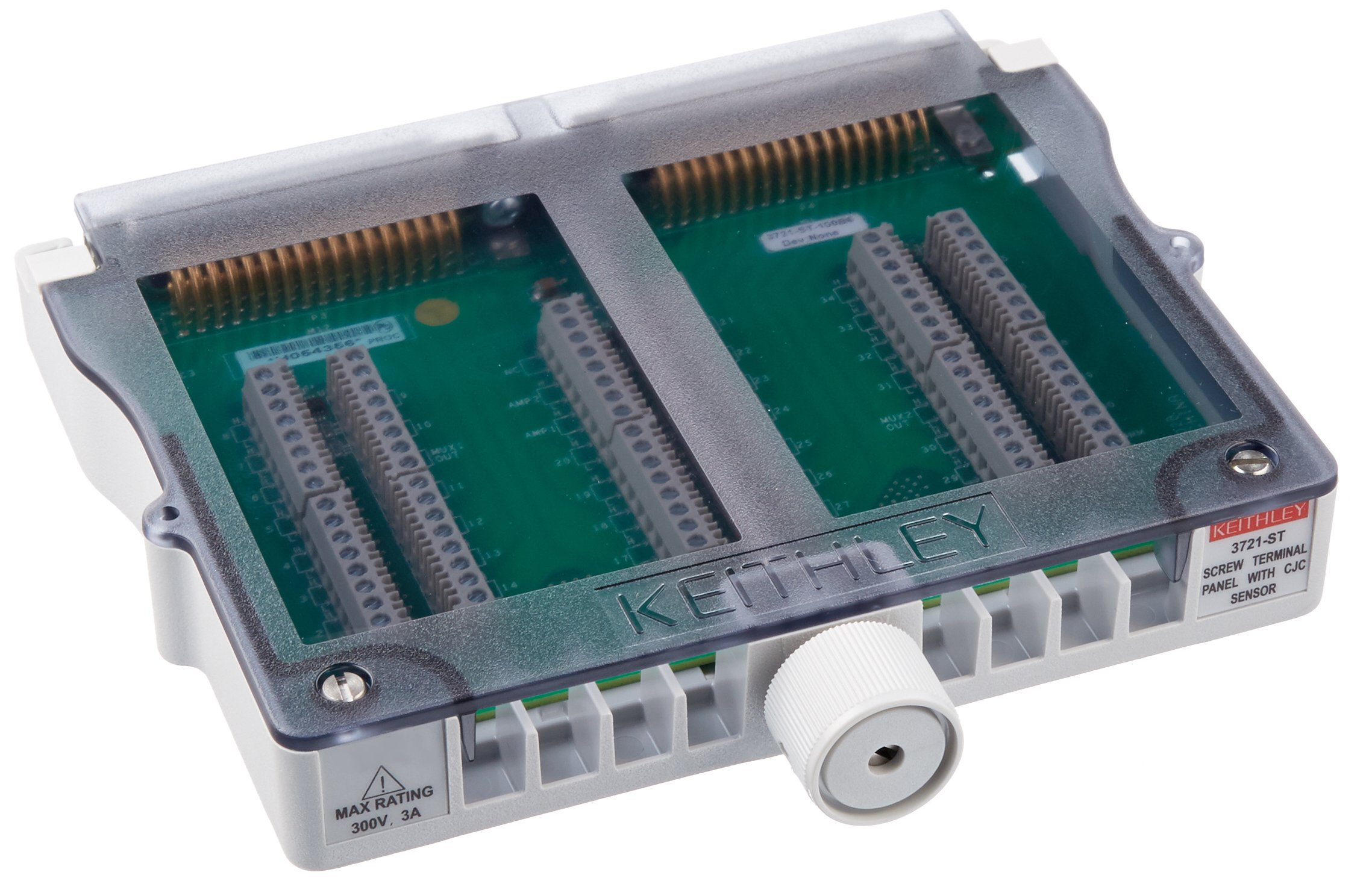 Keithley 3721-ST Screw Terminal Block Required for Auto CJC Thermocouple Measurements