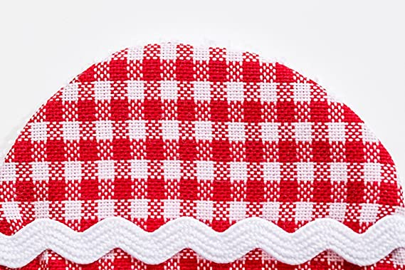 Discos desmaquillantes reutilizables de tela para limpieza facial algodones desmaquillantes algodón 6 cm cuadros rojo blanco Comercio justo de la marca ...