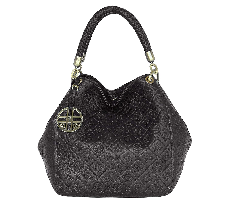 49baf7c1ebb6b SILVIO SILVIO SILVIO TOSSI Damen Leder Handtasche Schultertasche Schwarz  Modell 11463-39 B07HGBPFJ2 Messenger-Bags 705724