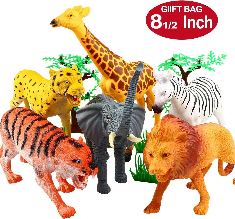 YeoNational&Toys Figuras de Animales, Colección de Animales de Juguete DE 20 cm, Muñecos Salvajes de Jungla de Plástico Realistas para Estimular el Aprendizaje o Regalo de Fiestas para Niños - 12