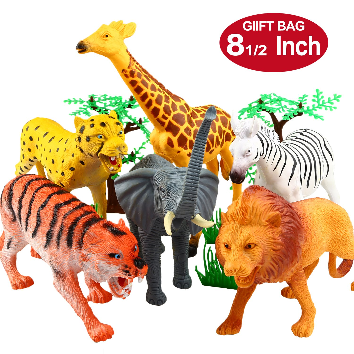 amazoncom animal figure8 inch jumbo jungle animal toy - HD 1500×1500