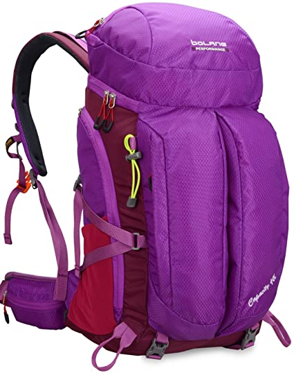 970bb01294 BOLANG Waterproof Hiking Daypack Outdoor Backpack for Camping Travel 40L  (Purple