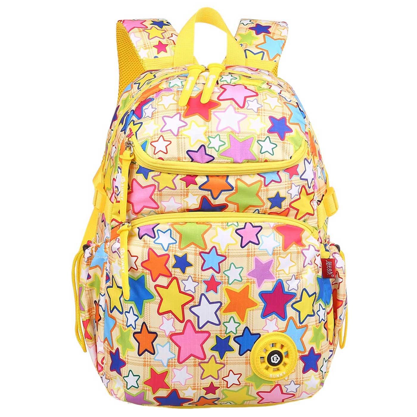 小学生の子供のための日曜日の8人の女の子の多彩なランドセルはバックパックの軽量をからかいます   B07FSR2BNS