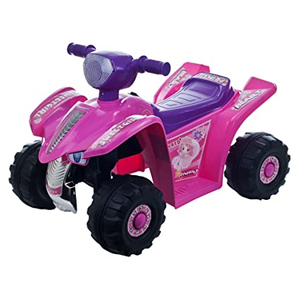 Battery Operated Ride On Toys >> Ride On Toy Quad Battery Powered Ride On Toy Atv Four Wheeler By Lil Rider Ride On Toys For Boys And Girls For 2 5 Year Olds Pink And Purple