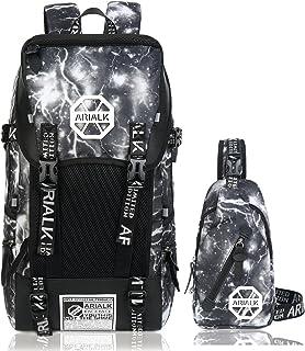 5cef8103af15 ARIALK リュック メンズ リュックサック 【改良版】 USB ポート搭載 レインカバー付き 盗難