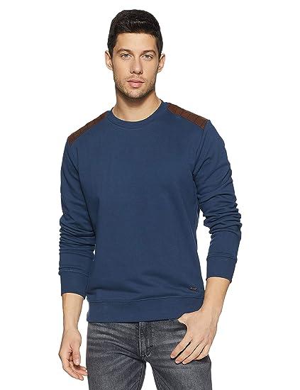 United Colors of Benetton Men s Sweatshirt (18A3044J9001I 355 S Blue) c068c22473